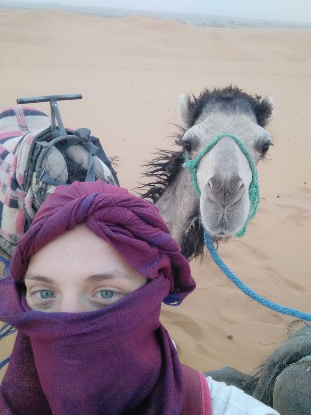 Selfie met mijn kameel