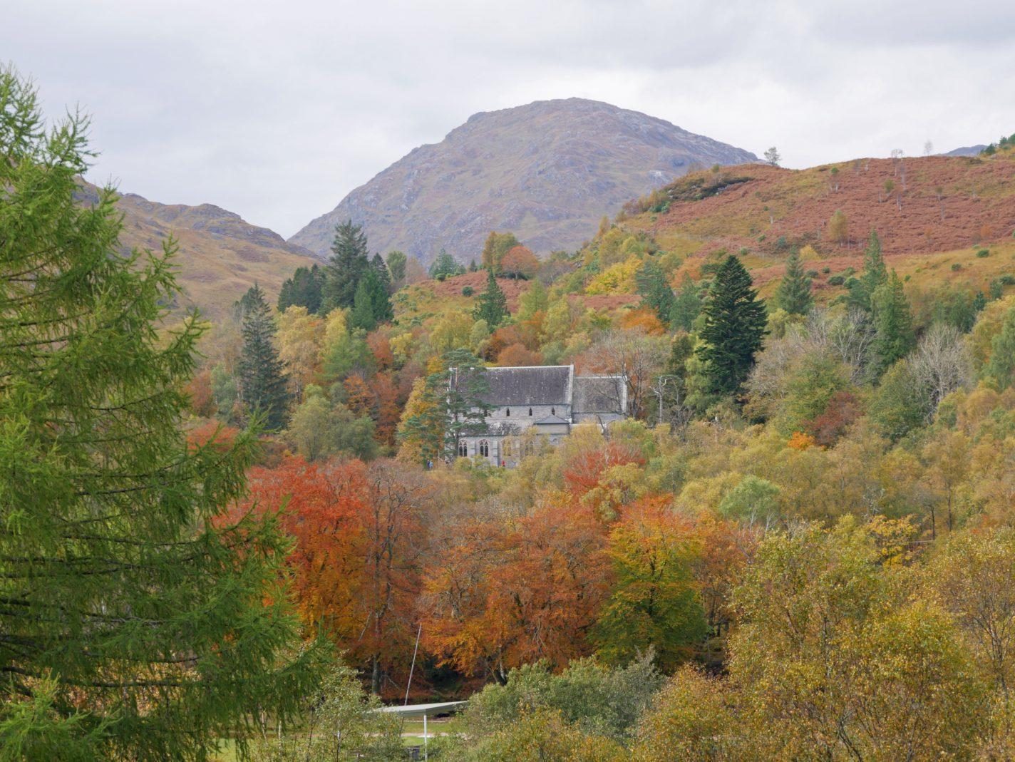 herfstkleuren in Schotland