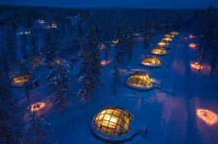 Deze iglo's in Finland bieden de beste plek om het Noorderlicht te spotten - Kakslauttanen Arctic Resort