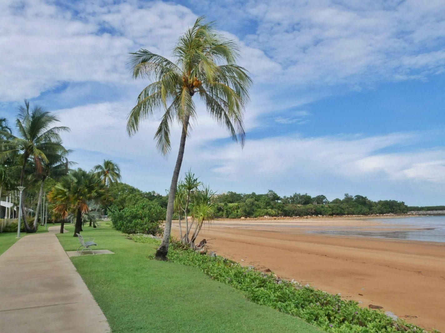 De kust bij het Mindil Beach Casino Resort