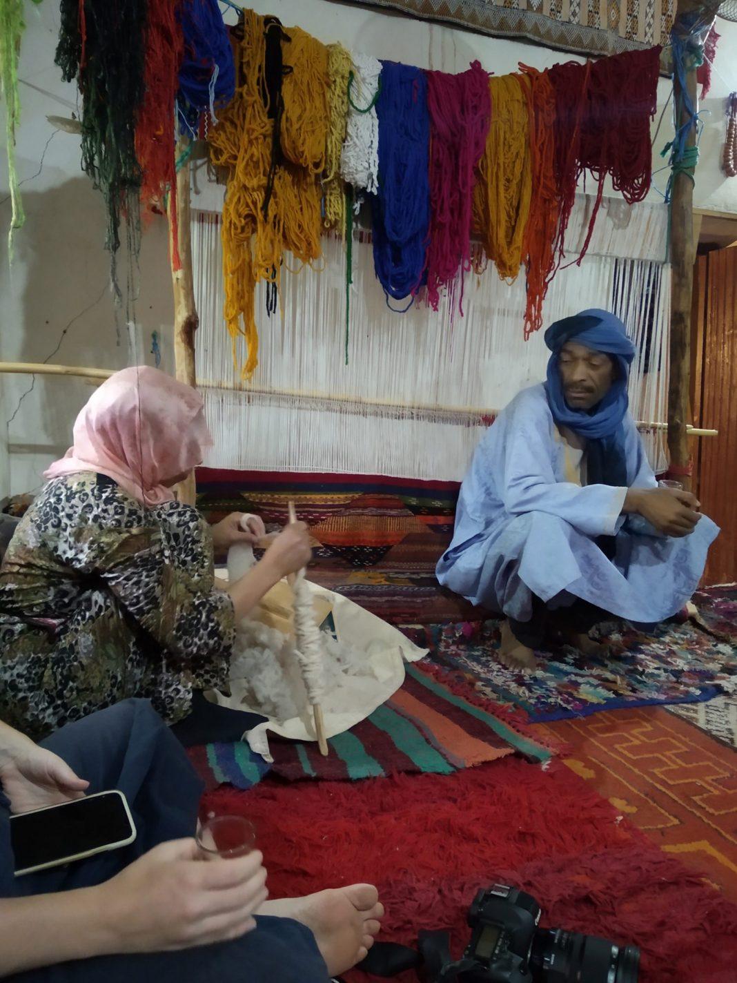 Demonstratie tapijt maken