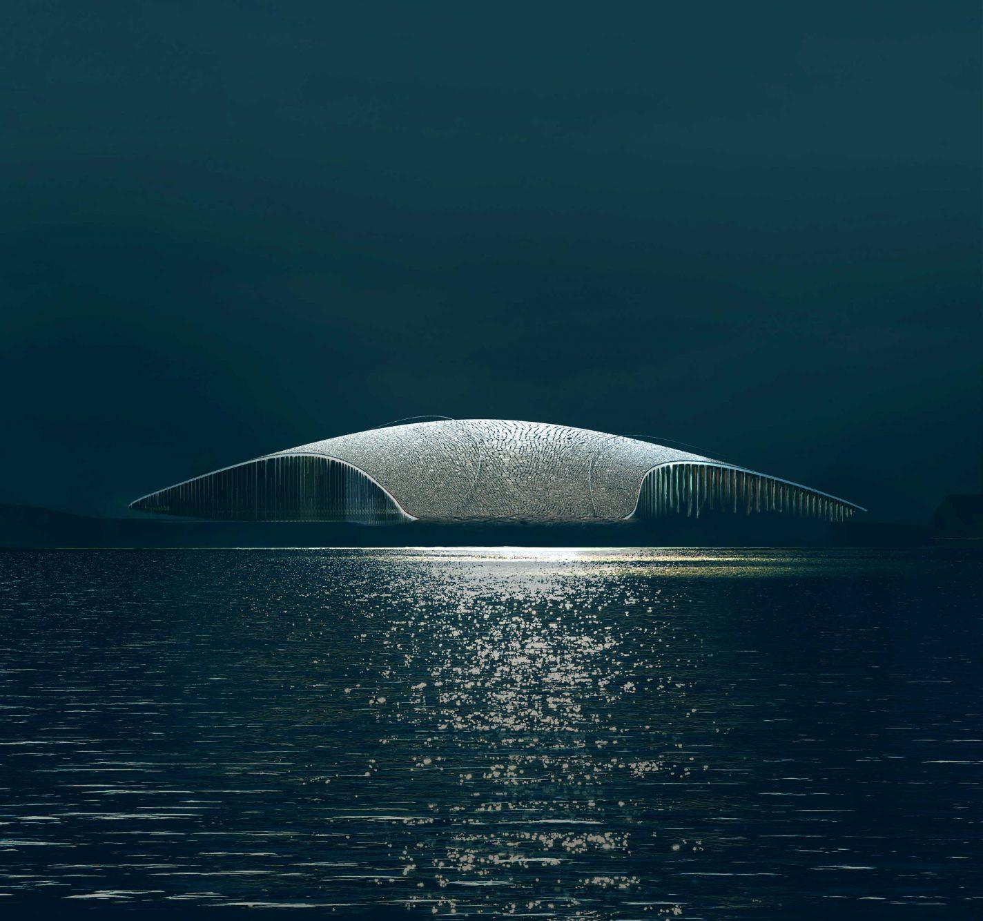 Museum in de vorm van een walvis