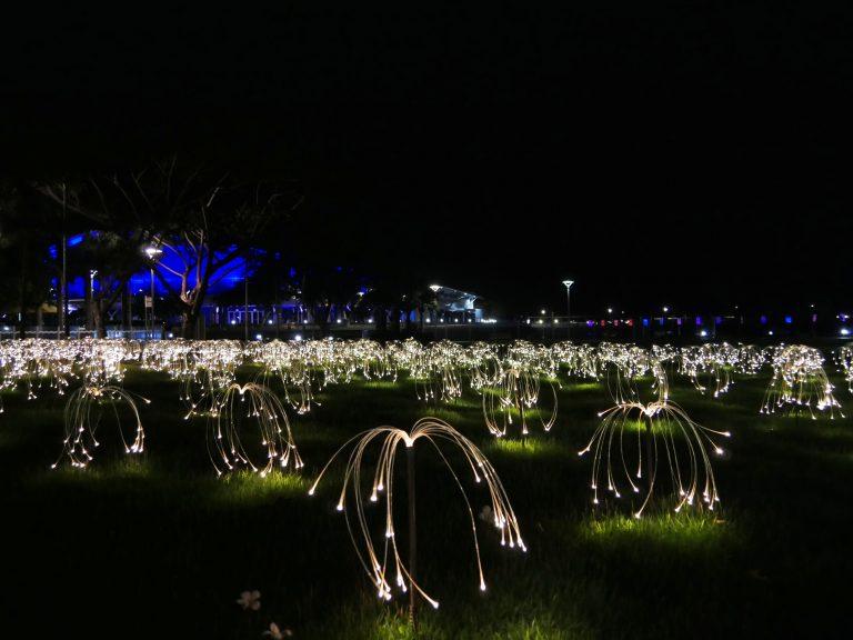 Tropical Light in Darwin - Kunsttentoonstelling van Bruce Munro