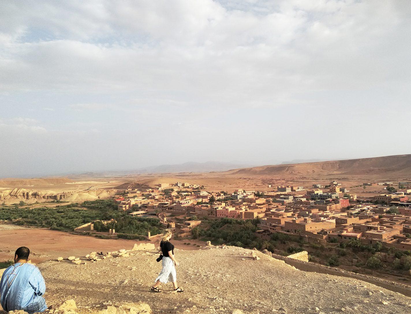 Uitzicht over Aït-Ben-Haddou en het Atlasgebergte - Hoge Atlas