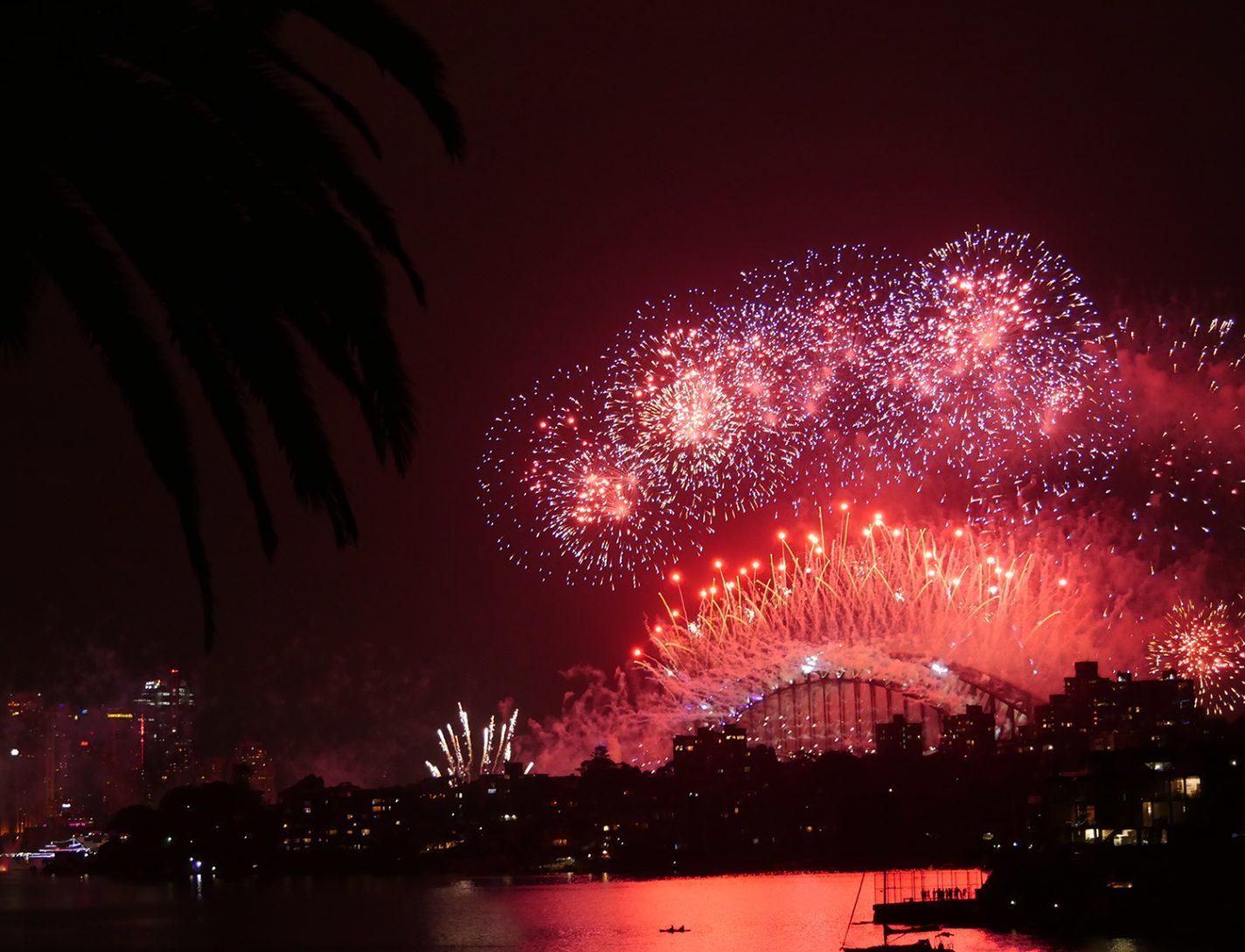 Vuurwerkshow in Sydney, de grootste ter wereld - oud & nieuw in het buitenland