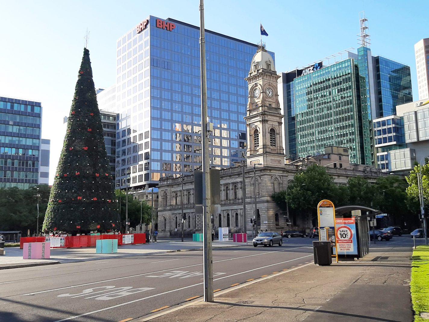 Grote kerstboom in Adelaide - Bezienswaardigheden Adelaide