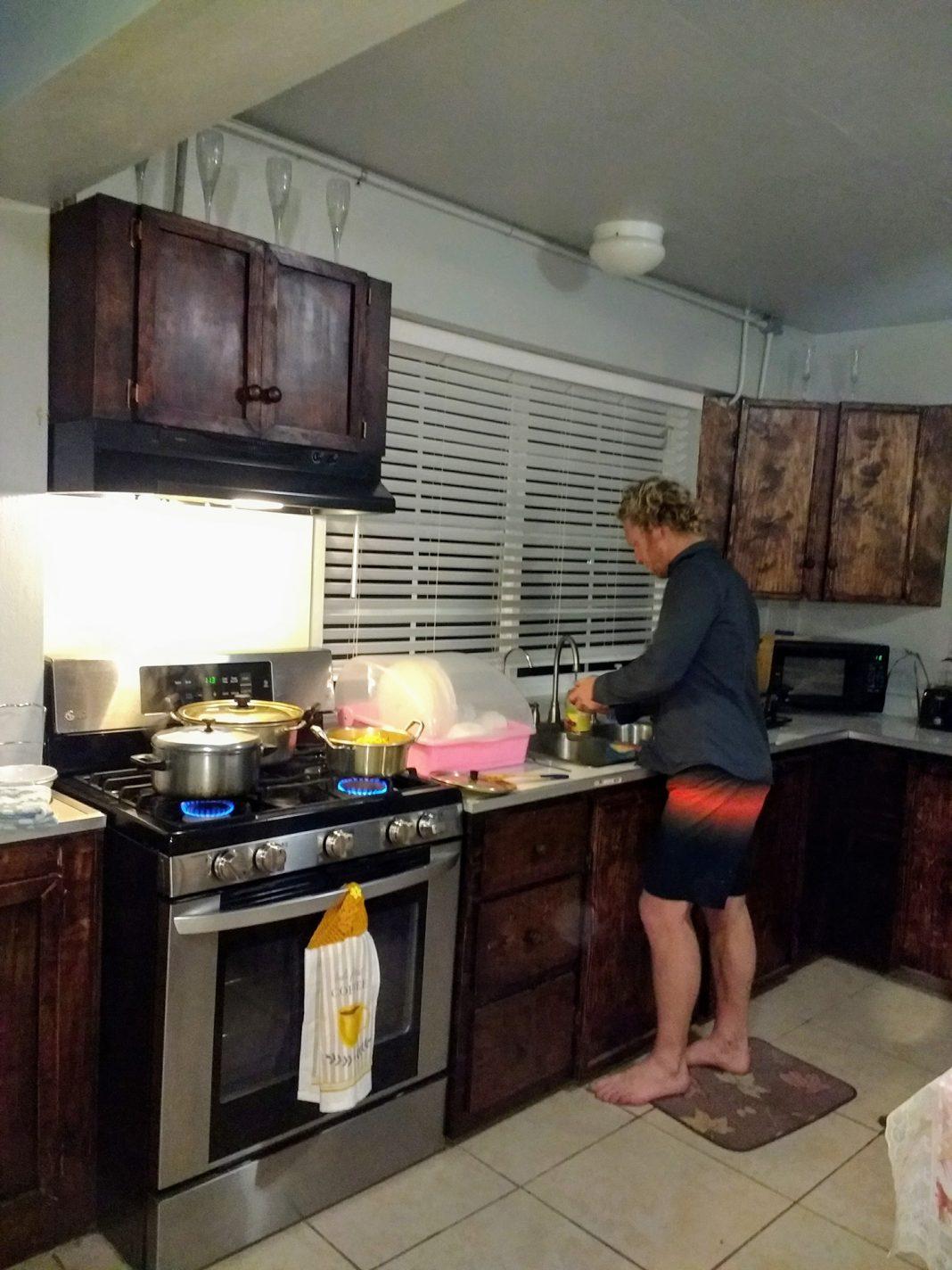Koken bij Yap bayside Inn