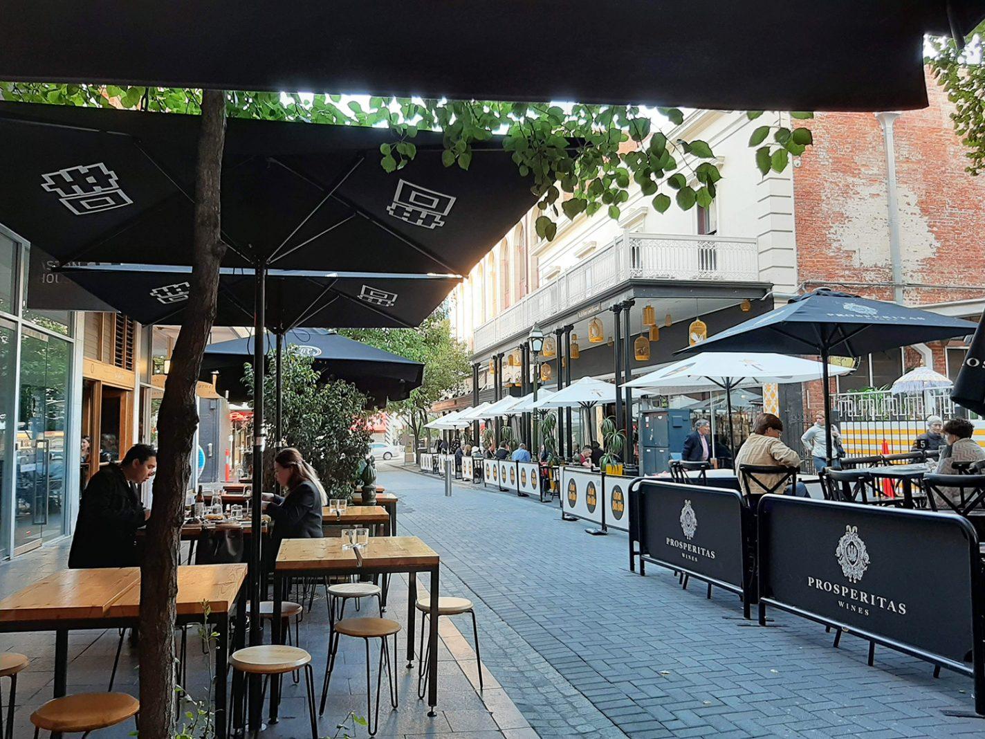 Leigh Street - straat vol met leuke restaurantjes
