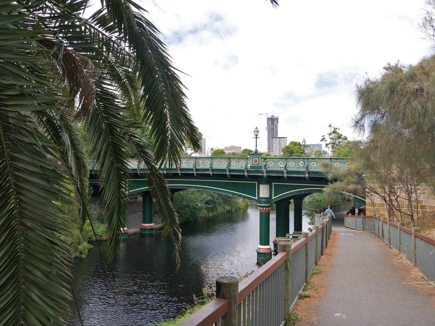 Veel mooie bruggen in Adelaide
