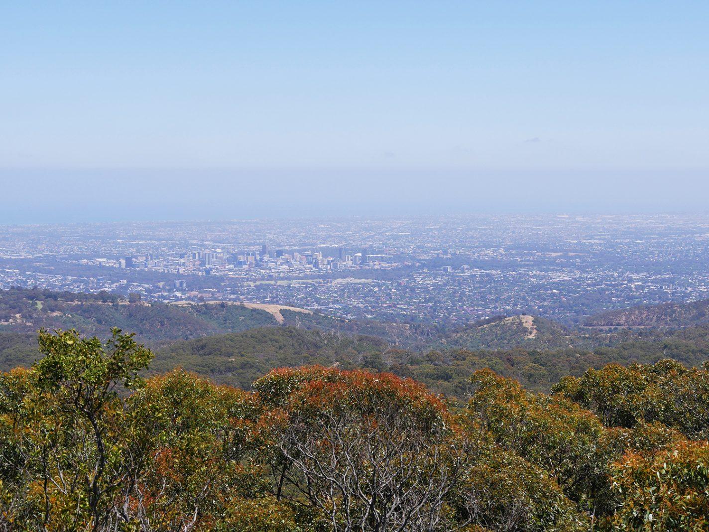 Prachtig uitzicht op de stad Adelaide