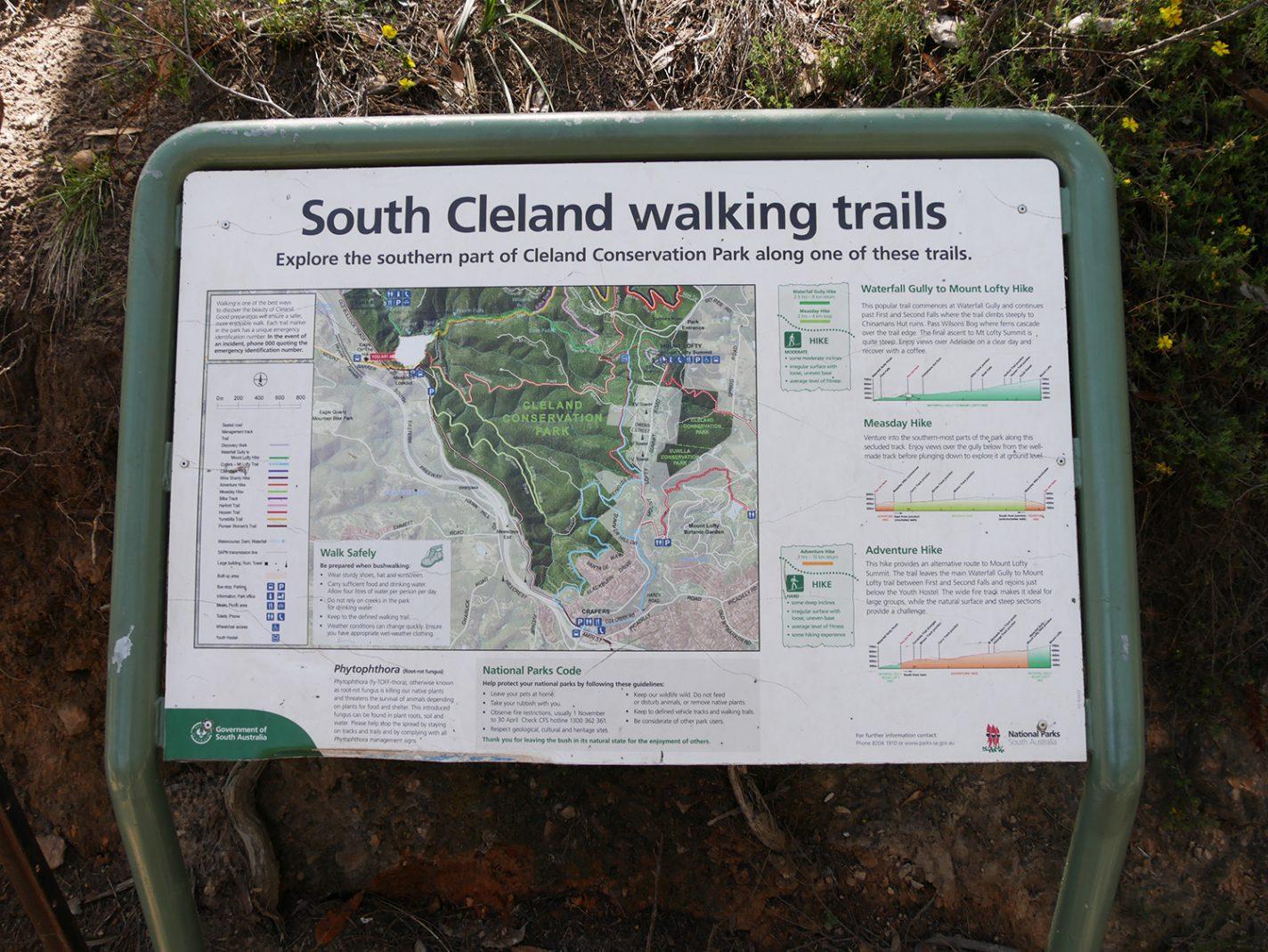 Informatie over de South Cleland walking trails