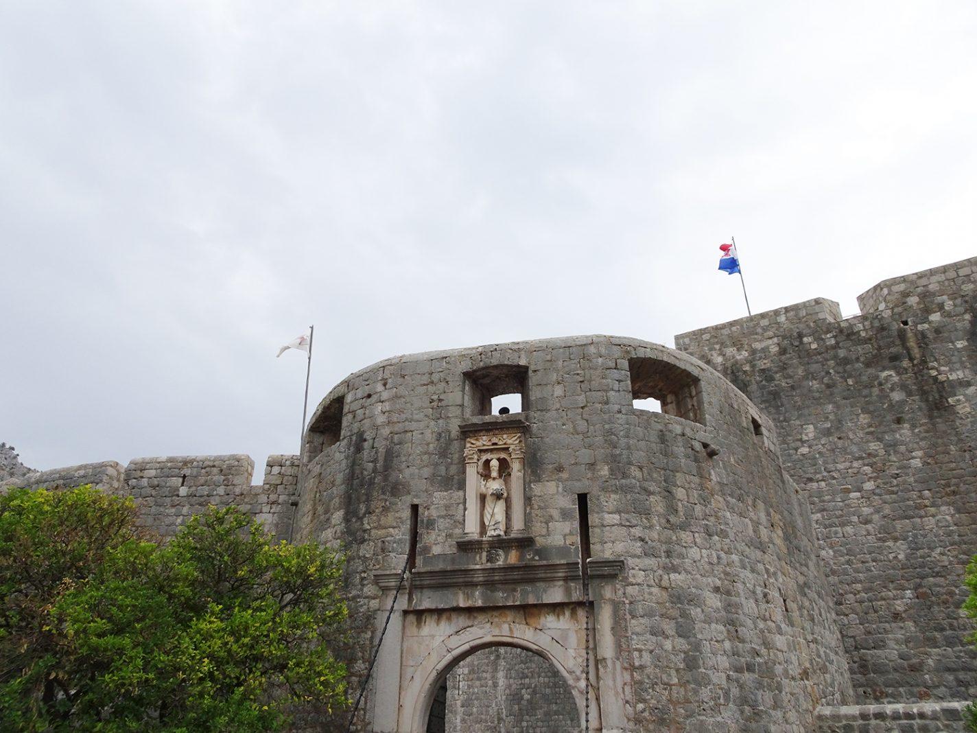 Stadspoort van Dubrovnik in Kroatie