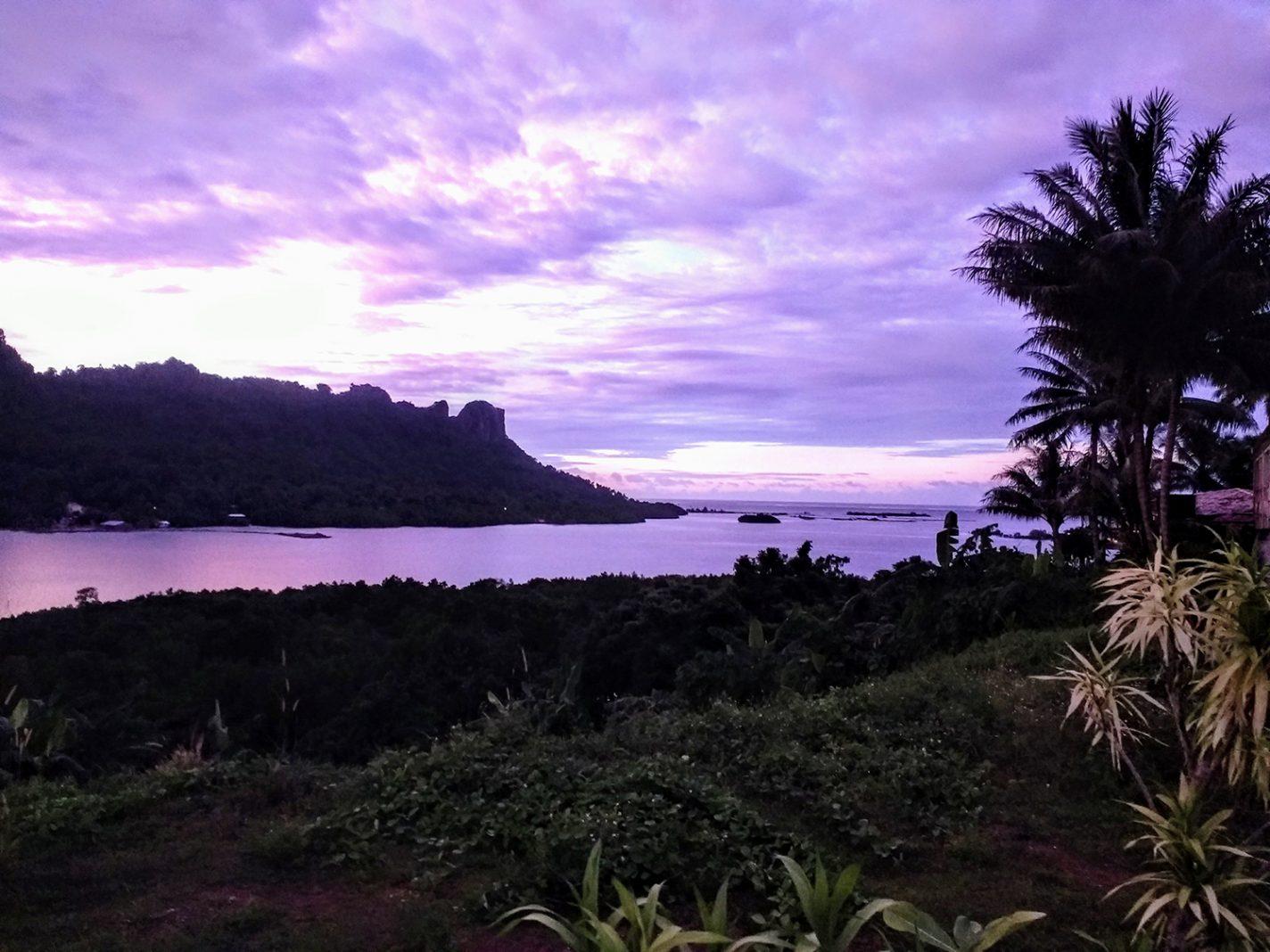 Prachtig uitzicht vanaf ons hotel - Pohnpei in Micronesie