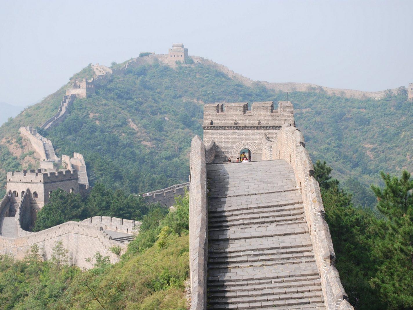 Mooiste reismoment lopen op de Chinese muur