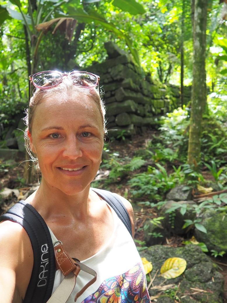 Zwetend bij Nan Madol
