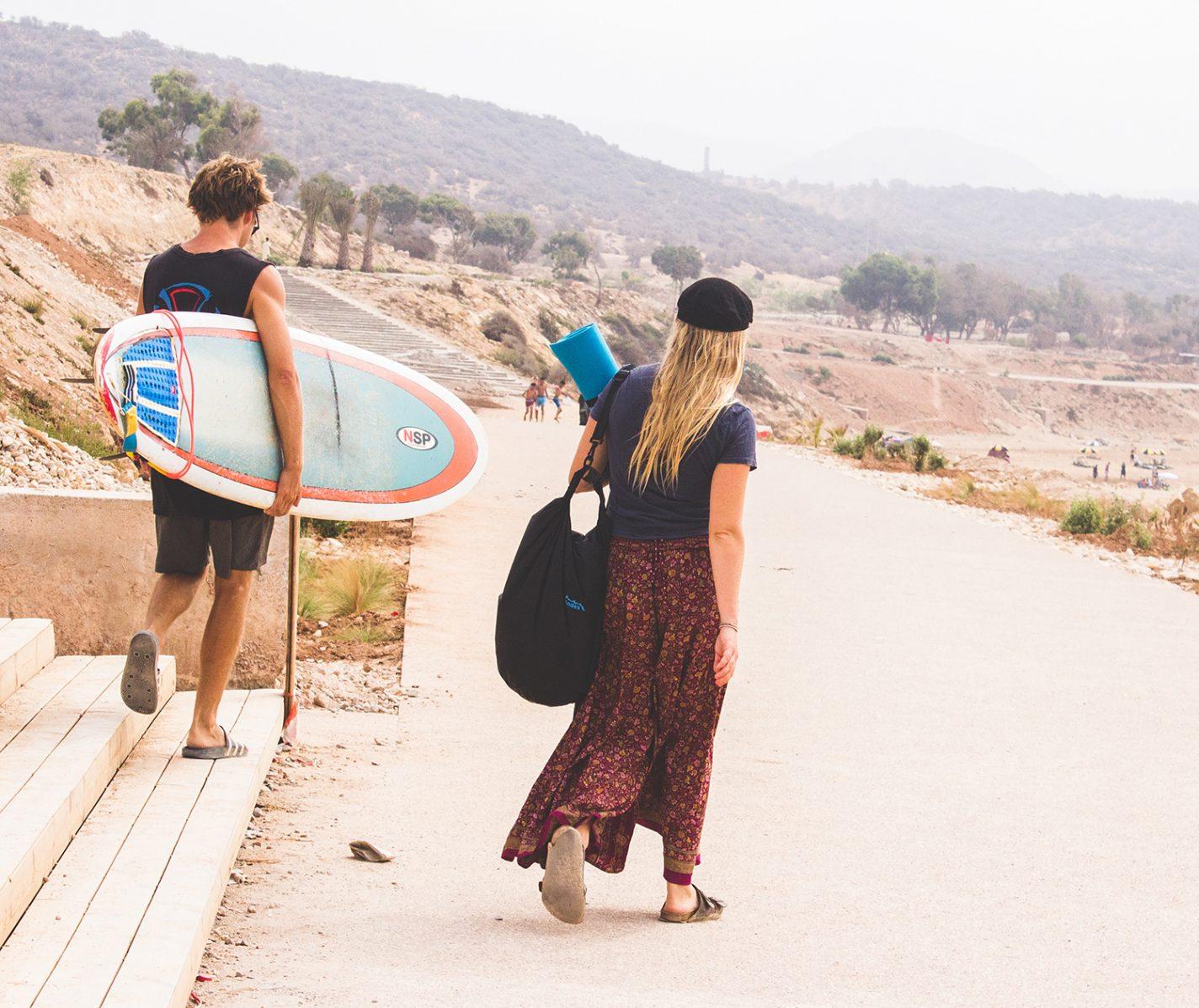 Surfen bij Taghazout in Marokko