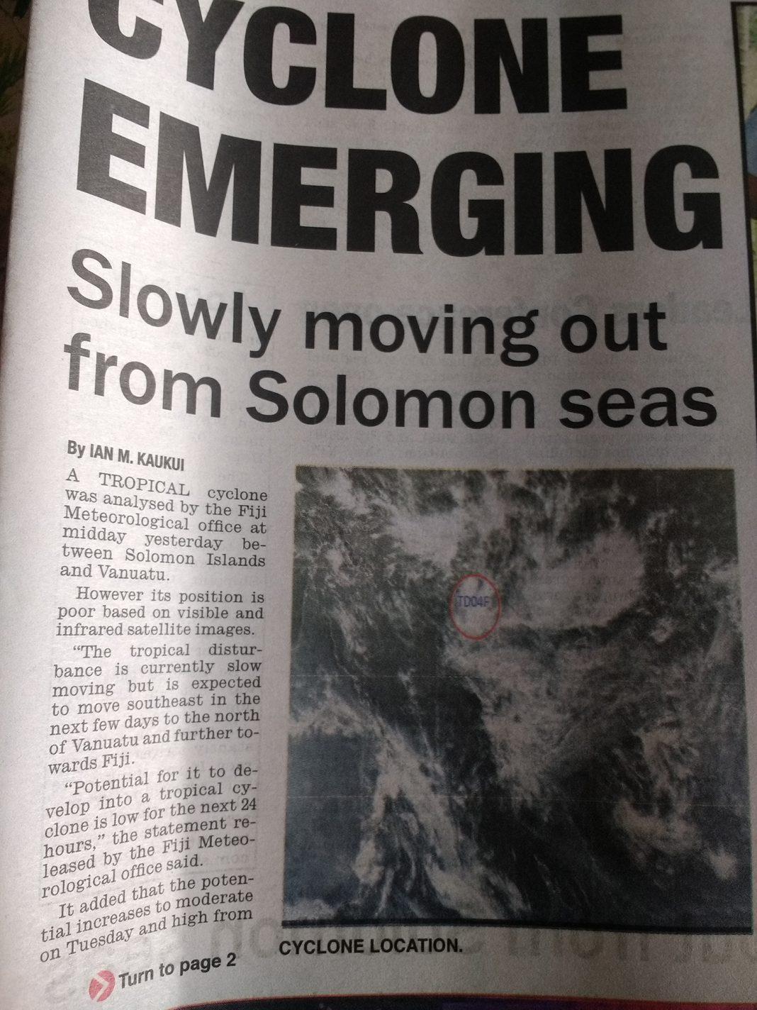 De waarschuwing in de krant