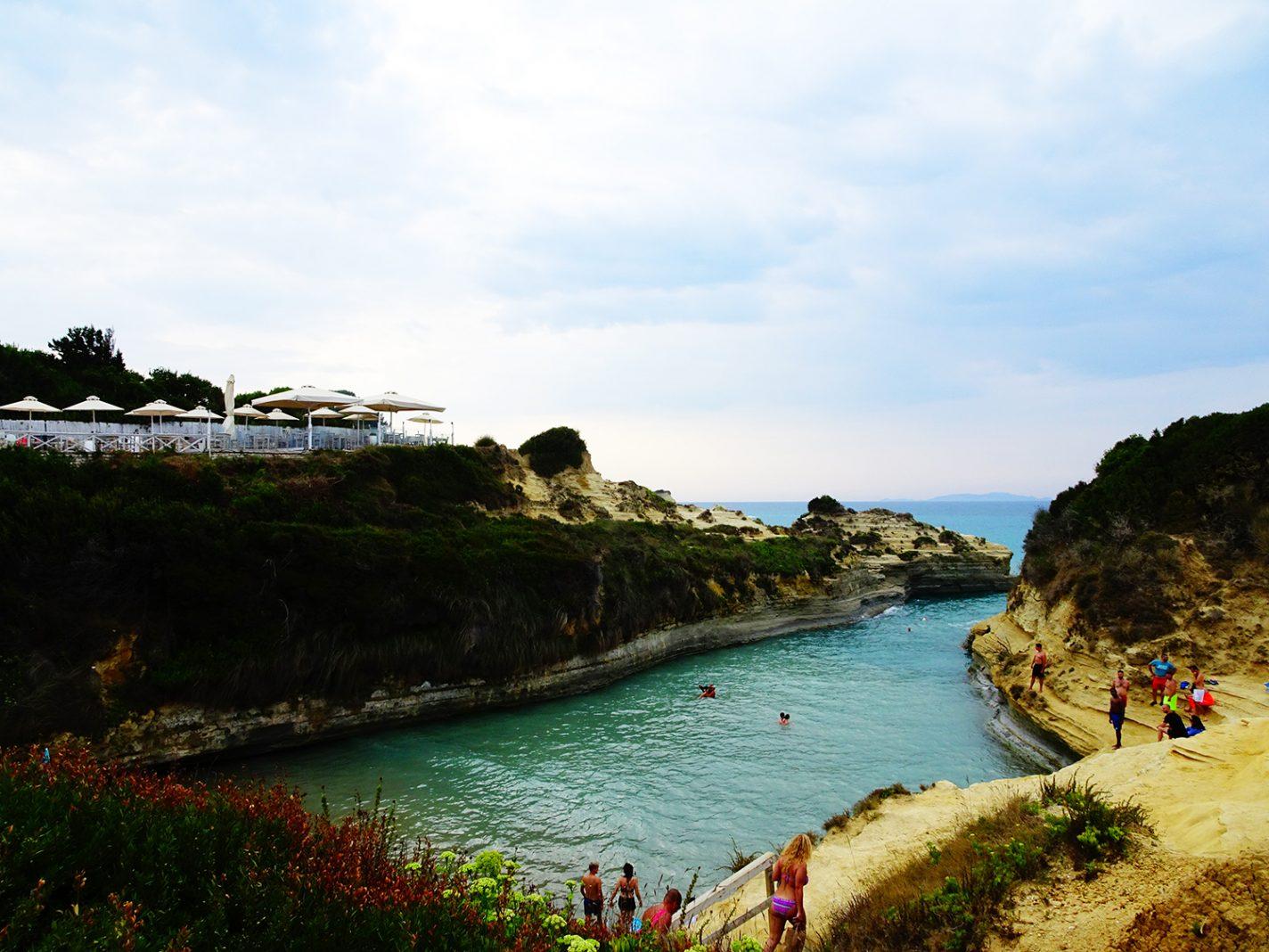 Zwemmen bij Canal d'amour