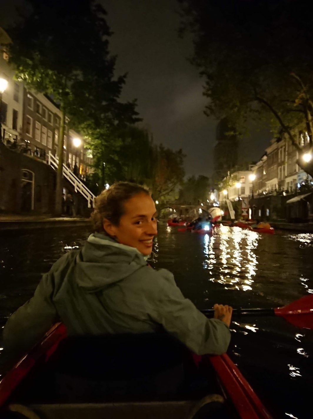Kanoën in Utrecht - interview met Johanna
