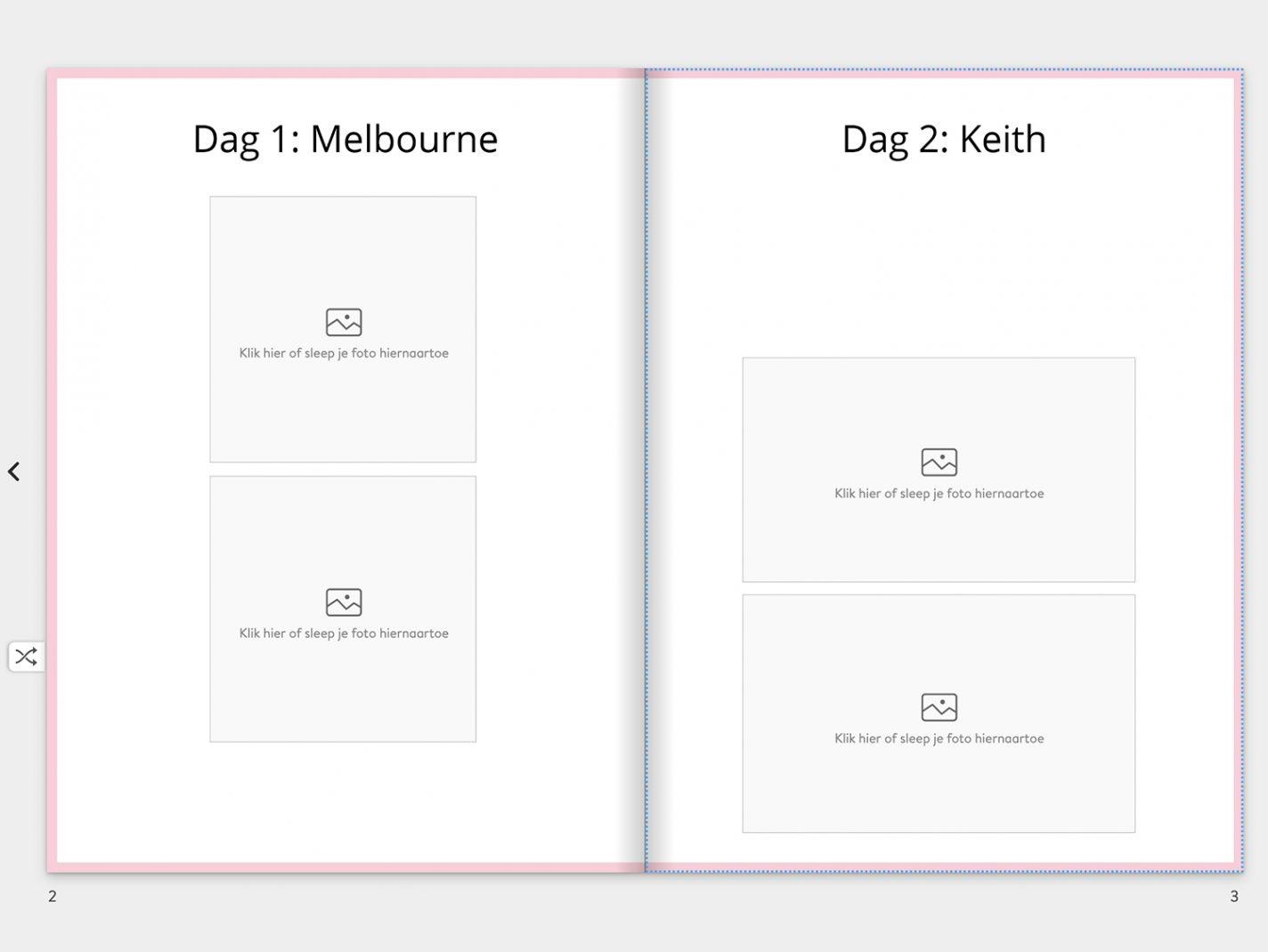 Gebruik een chronologische volgorde in je fotoboek