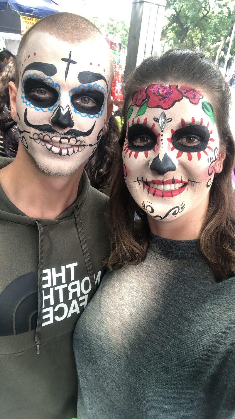 Onze gezichten geschminkt