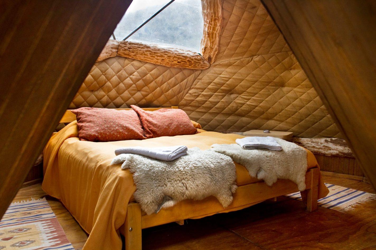 Slapen in een dome van EcoCamp Patagonia - bijzondere plekken Chili
