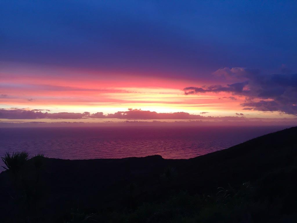 Prachtige zonsondergang aan de westkust - Mooiste dagtrips vanuit Auckland