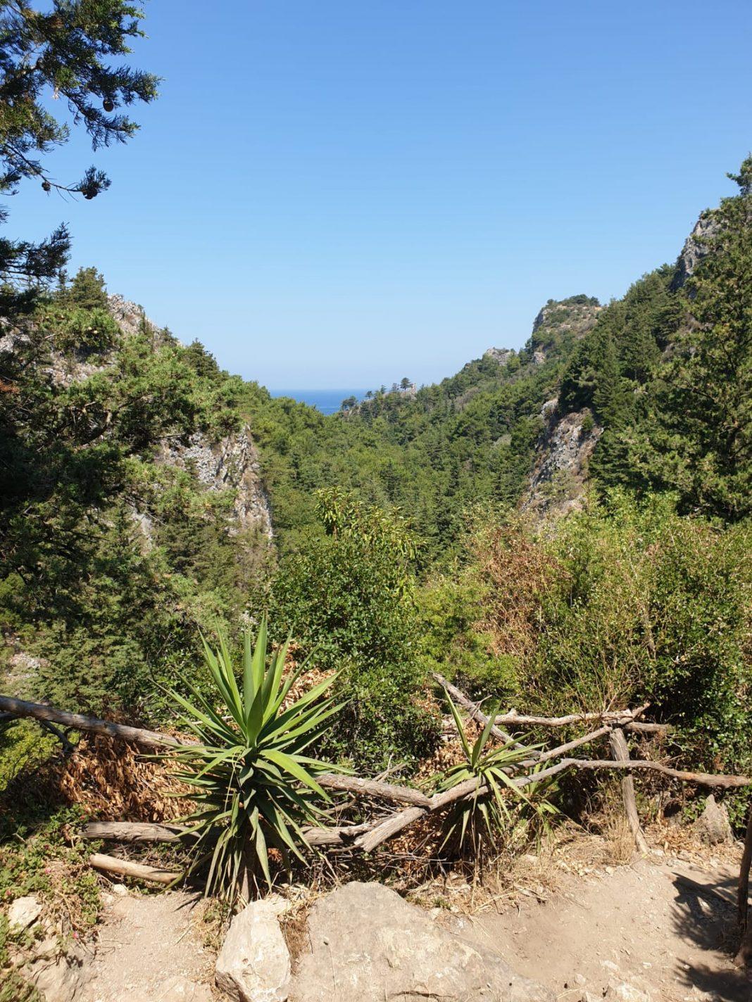 Een groene oase op het Griekse eiland Samos