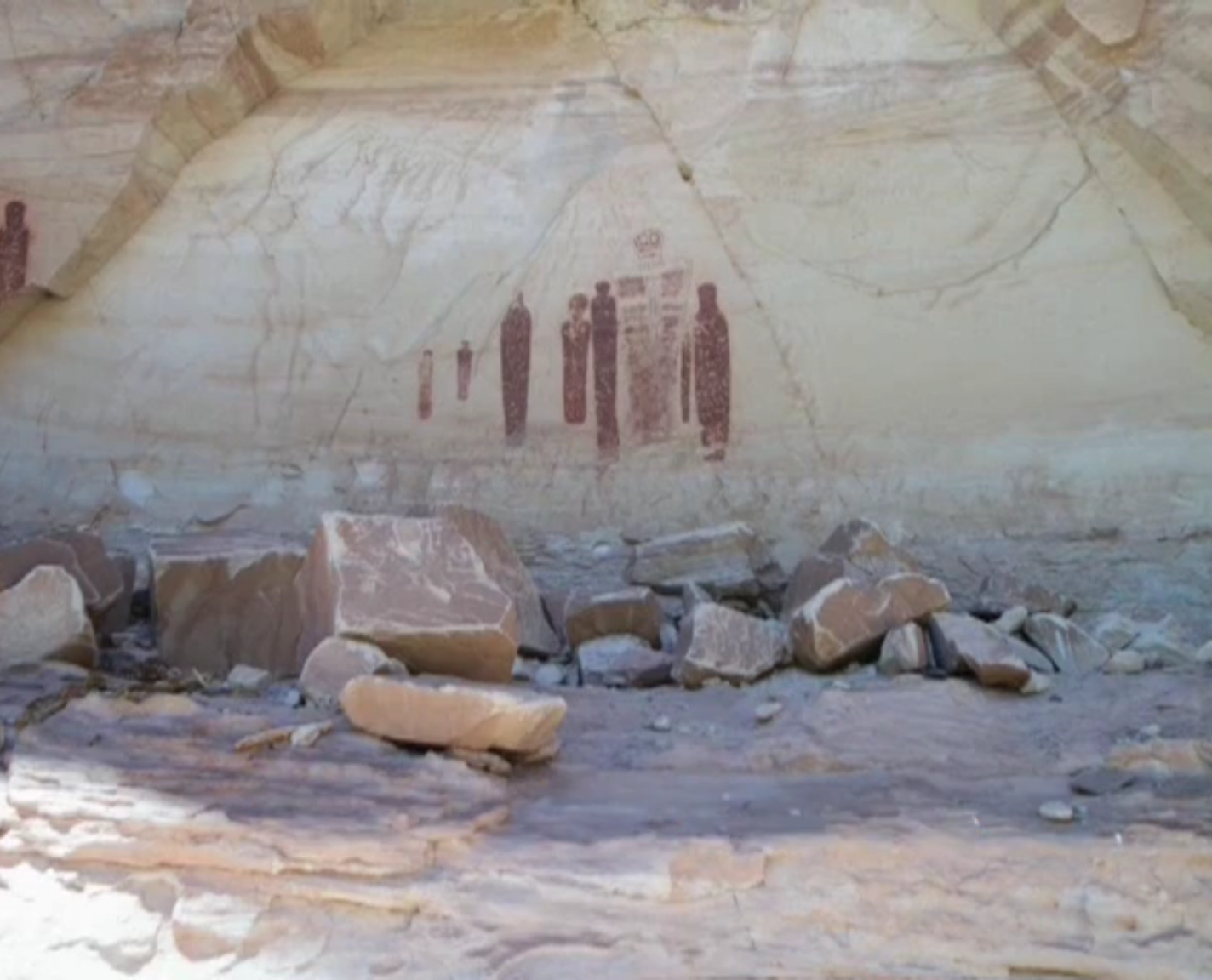 The Great Panel in de Horseshoe Canyon nabij Hanksville.