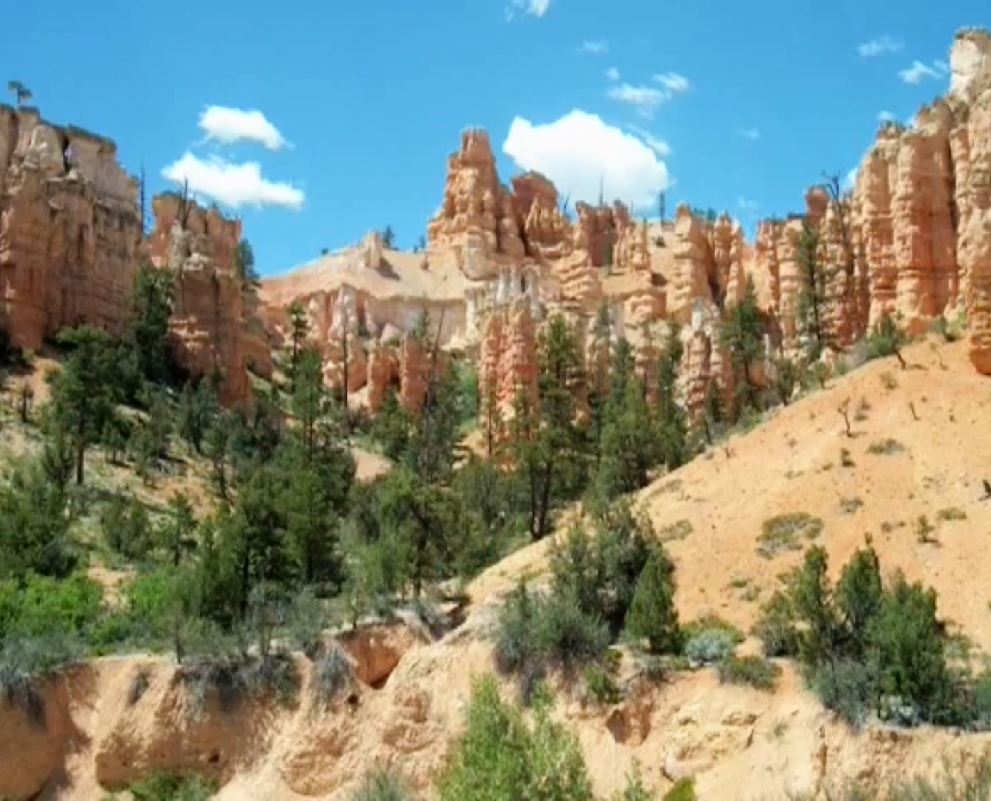 De buitenkant van Bryce Canyon