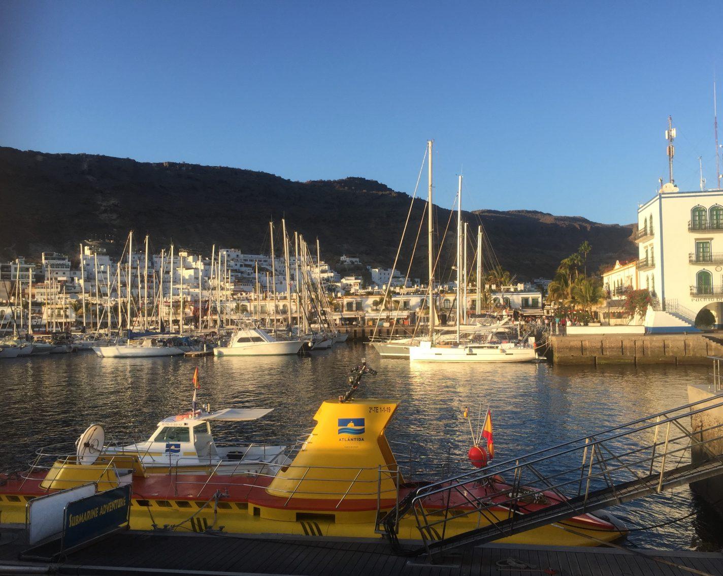 De haven van Puerto de Mogan op Gran Canaria