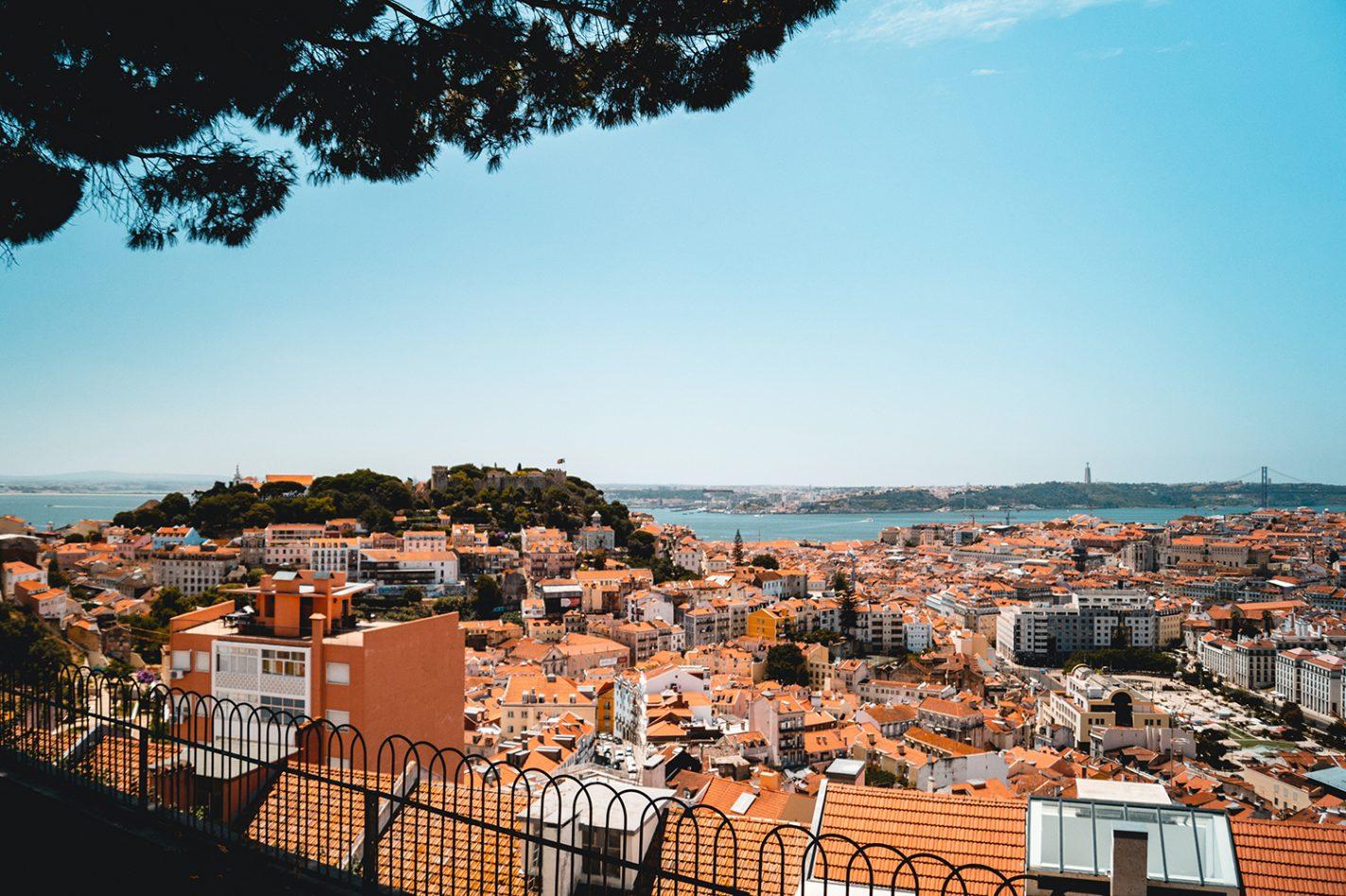 Uitzicht vanaf Castelo de São Jorge