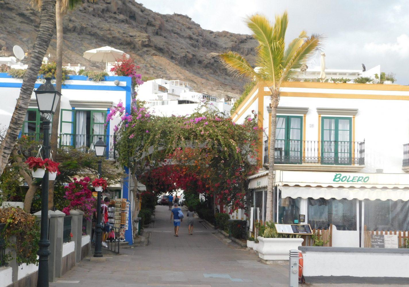 Restaurans en winkels in Puerto de Mogan - Gran Canaria
