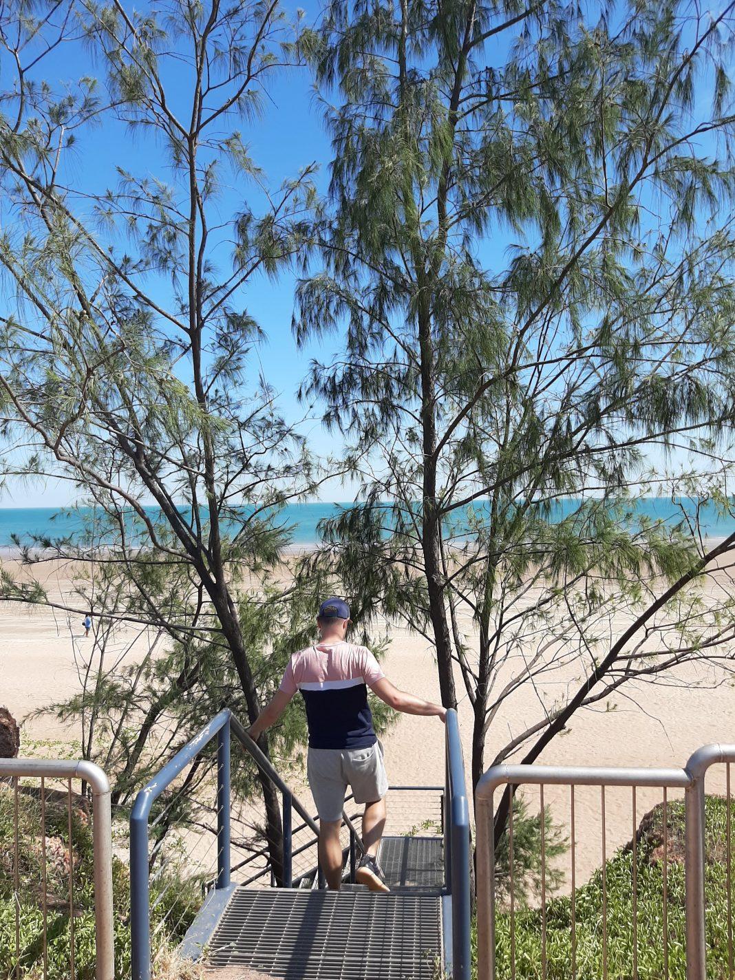 Trap naar Casuarina Beach - Mooiste plekjes van Darwin