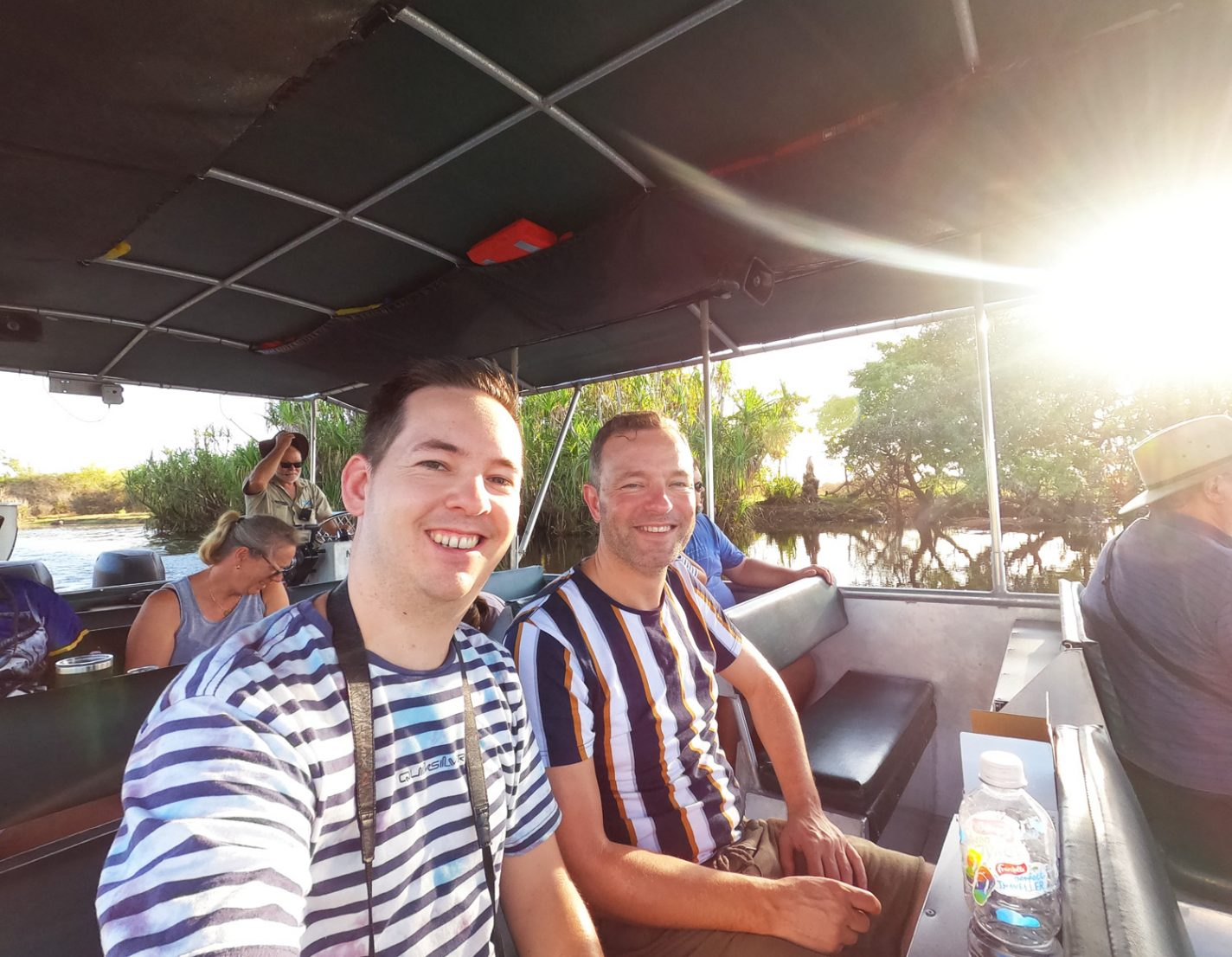 Samen met Martin tijdens de Wetland Cruise