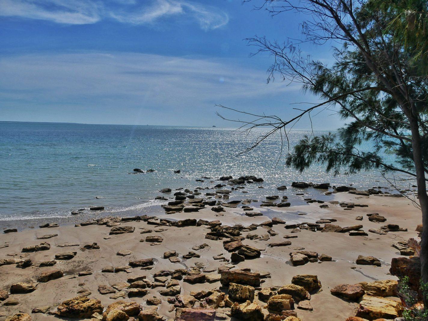 De kust bij East Point Reserve