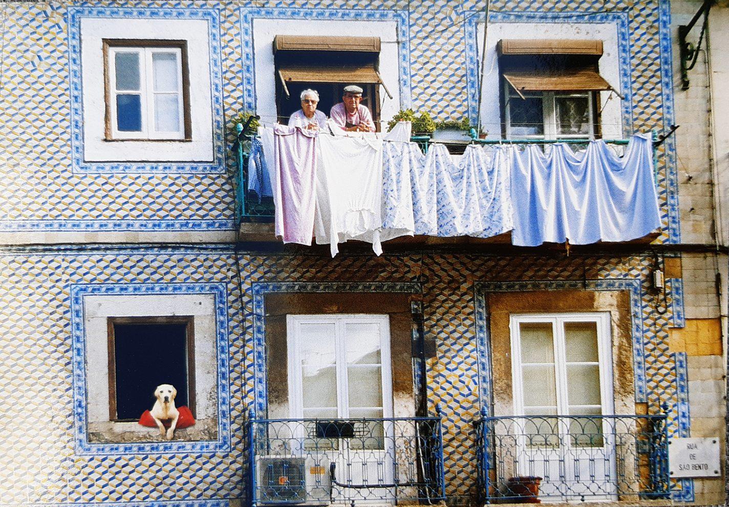 Een postkaartje uit Lissabon die de sfeer goed weergeeft