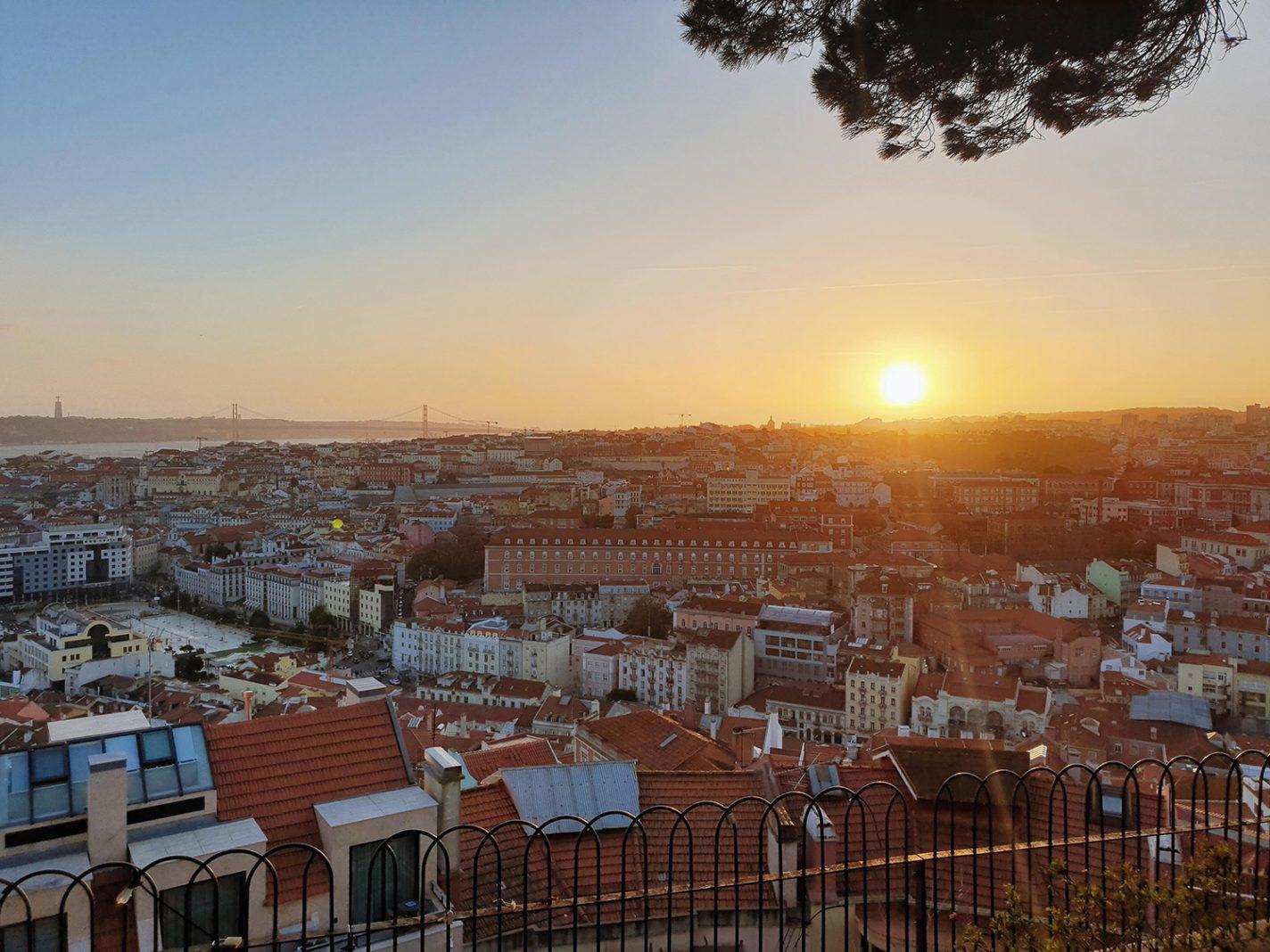 Zonsondergang over Lissabon - handige tips Lissabon