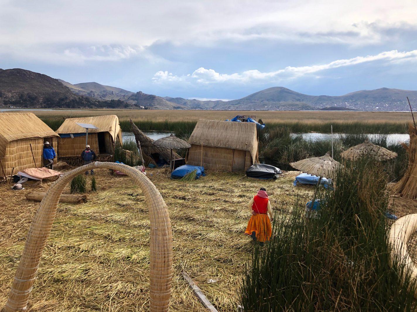 Drijvende eilanden Puno - reisblog over Peru
