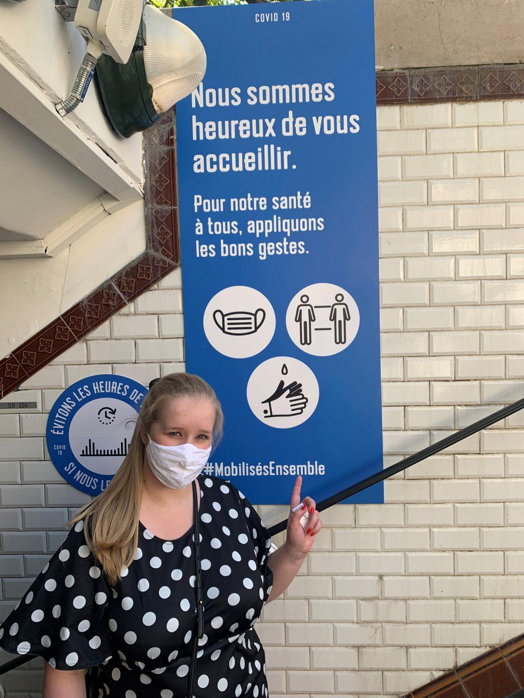 Gastblogger Valerie aan de Parijse metro