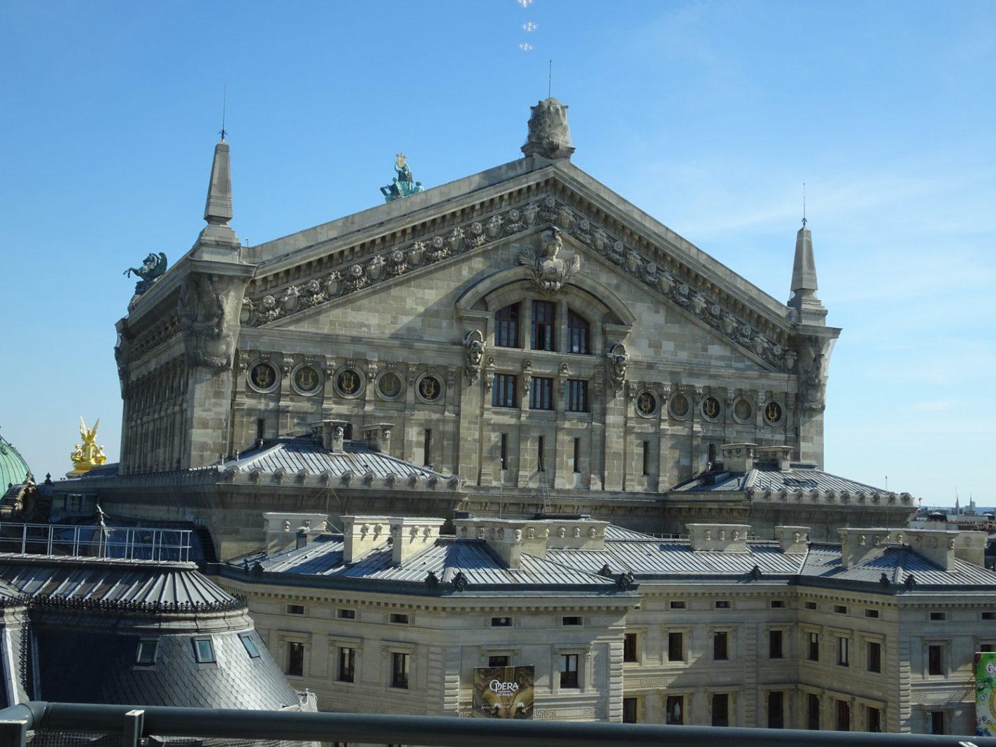 Uitzicht op de Opéra vanuit La Fayette