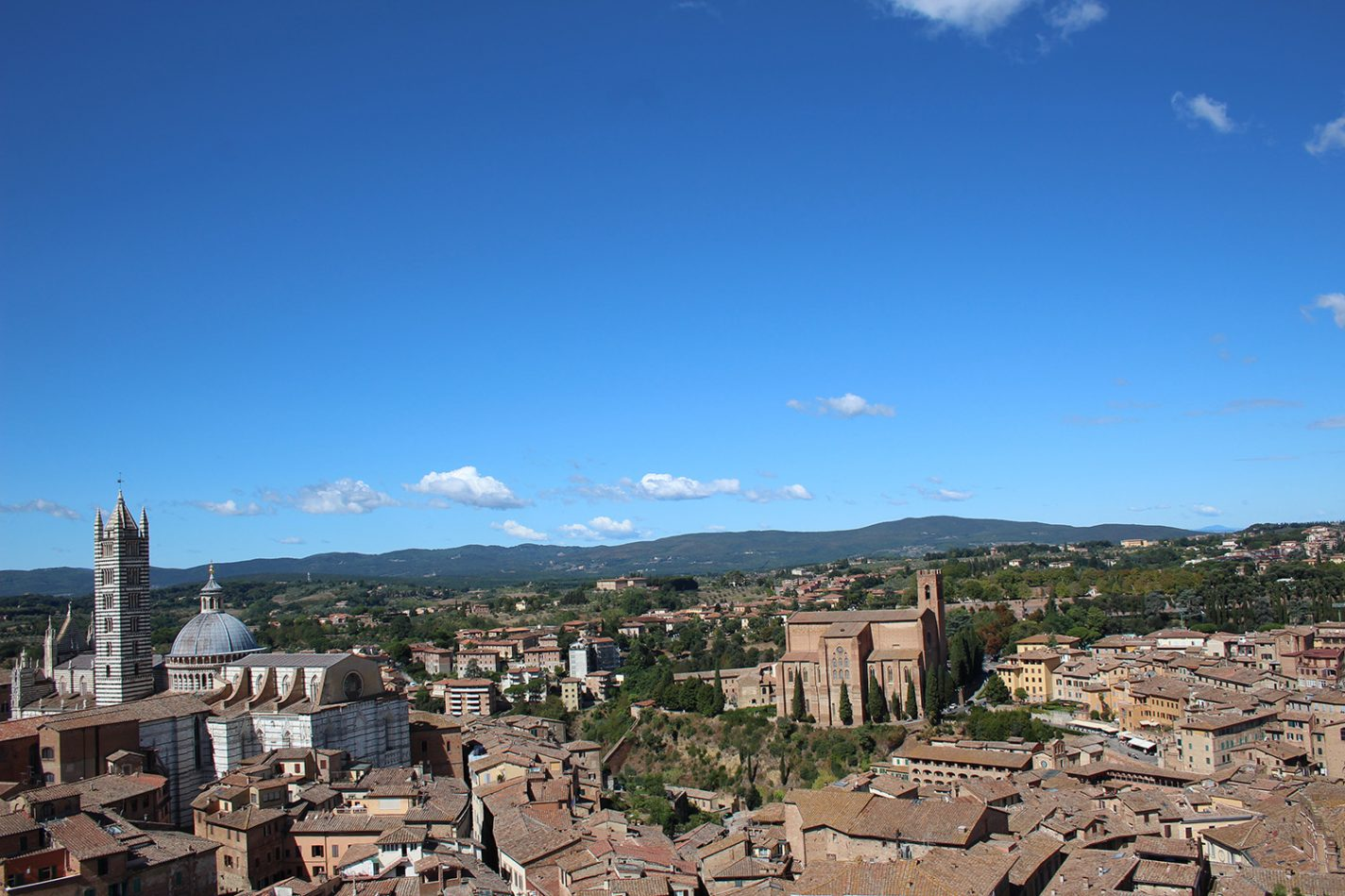 Uitzicht over Siena vanaf Torre del Mangia - mooiste Europese stad