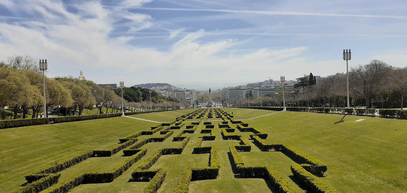 Uitzicht vanaf de top van Parque Eduardo VII