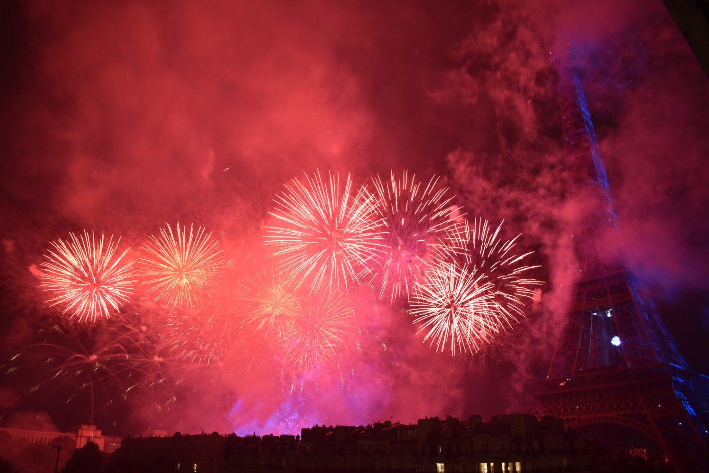 Vuurwerk op de Franse nationale feestdag