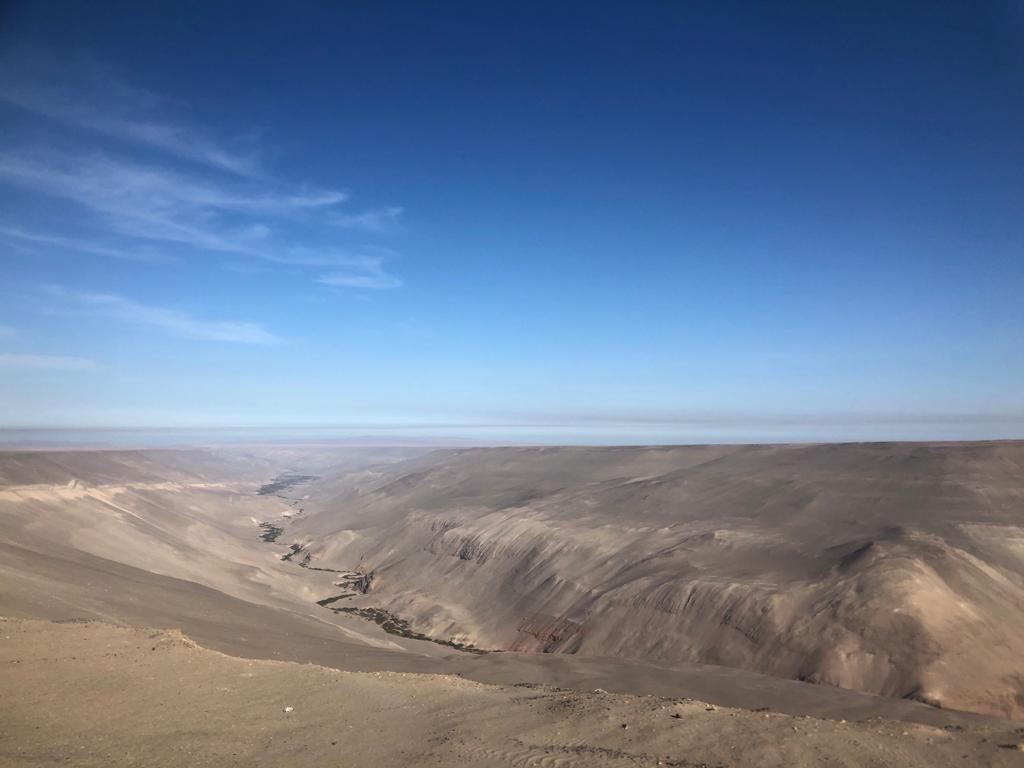 Uitzicht vanaf busrit Chili