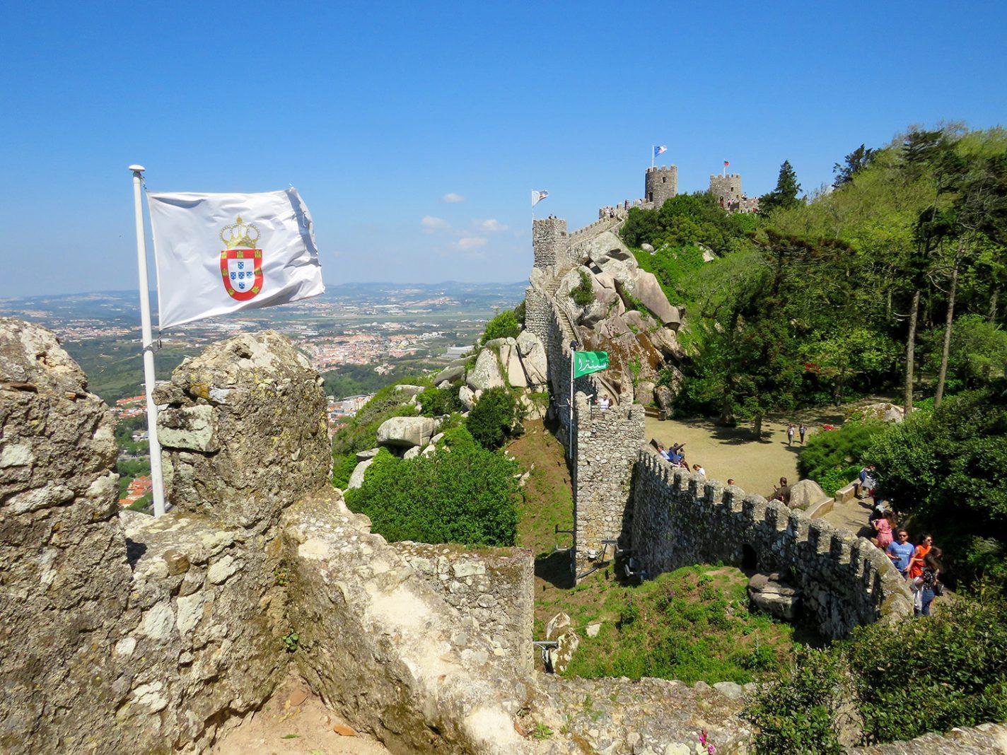 Het oudste kasteel van Sintra: Castelo dos Mouros - Omgeving van Lissabon