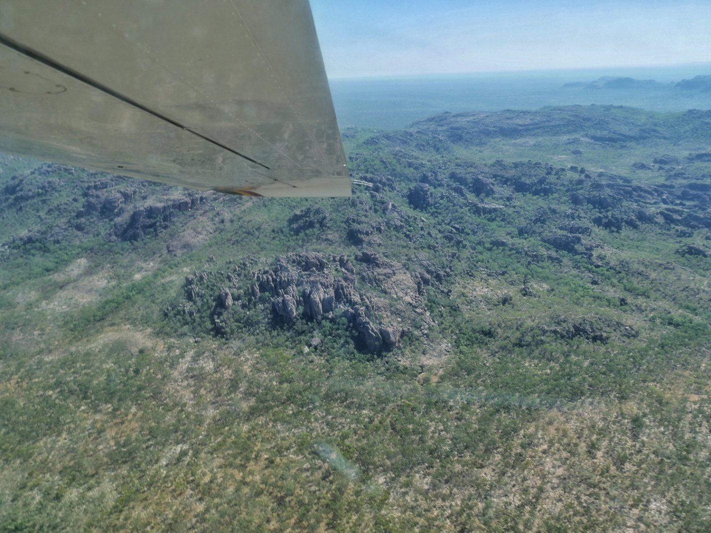 Schitterende landschappen vanuit het vliegtuigje - Kakadu National Park