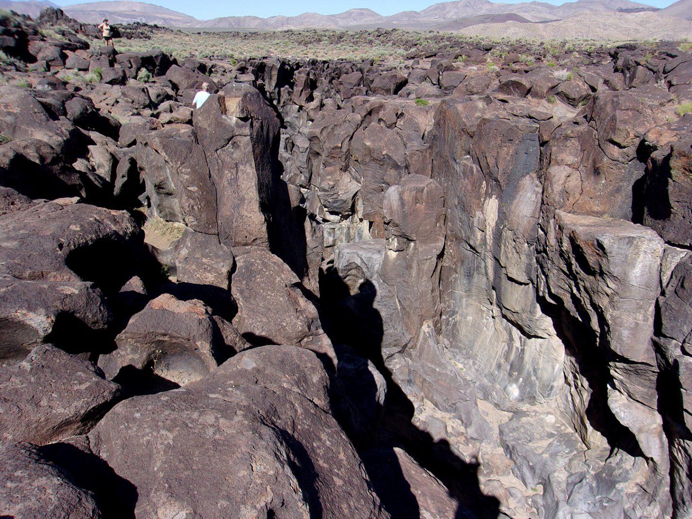 Fossil Falls in Californië
