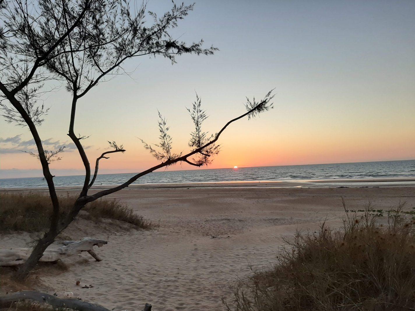 Een van de stranden van Darwin