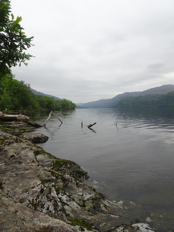 Aan de oever van Loch Lomond